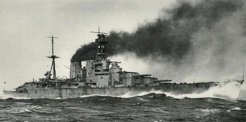 <i>Hood</i> running trials off Isle of Arran 03/1920