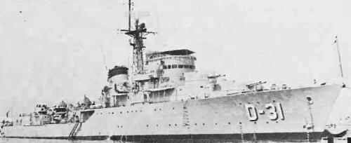 Venezuelan destroyer Aragua